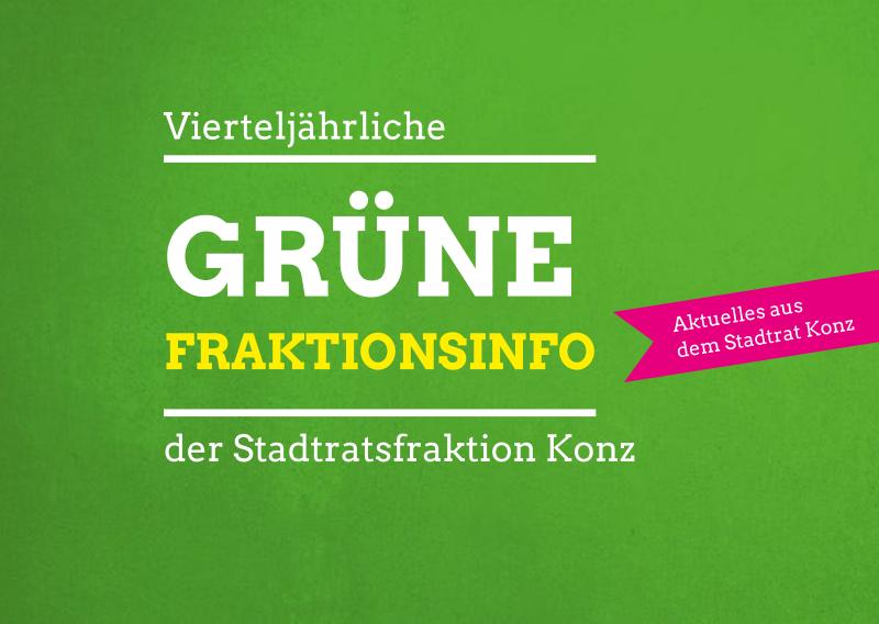 Grüne Fraktionsinfo Nr. 1