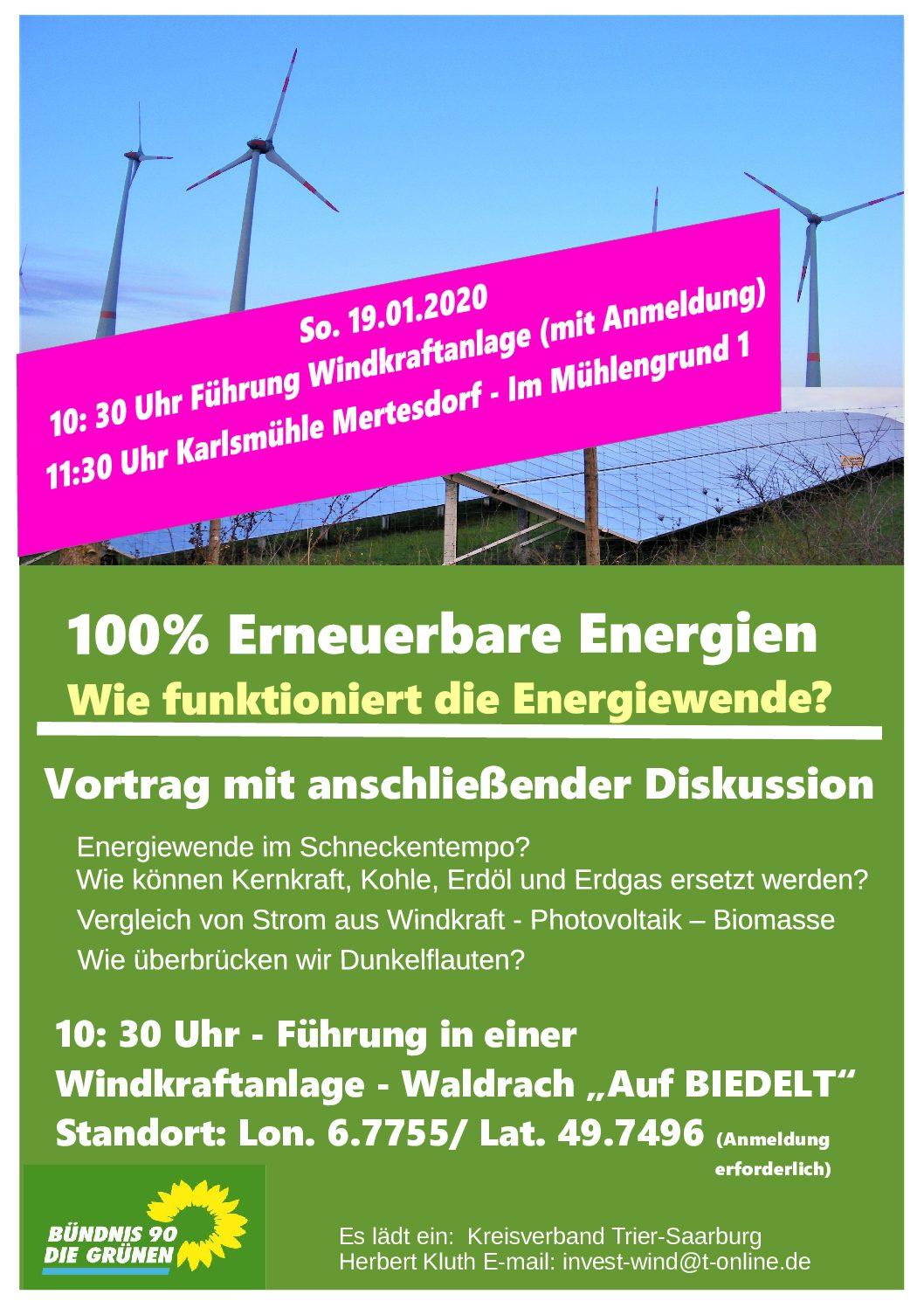 100% Erneuerbare Energien – Wie funktioniert die Energiewende?