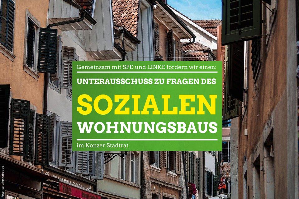 Gemeinsamer Antrag zum sozialen Wohnungsbau von: