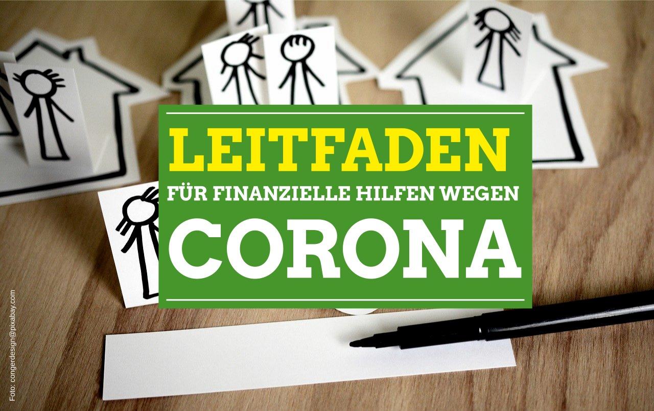 Leitfaden für finanzielle Hilfen wegen Corona