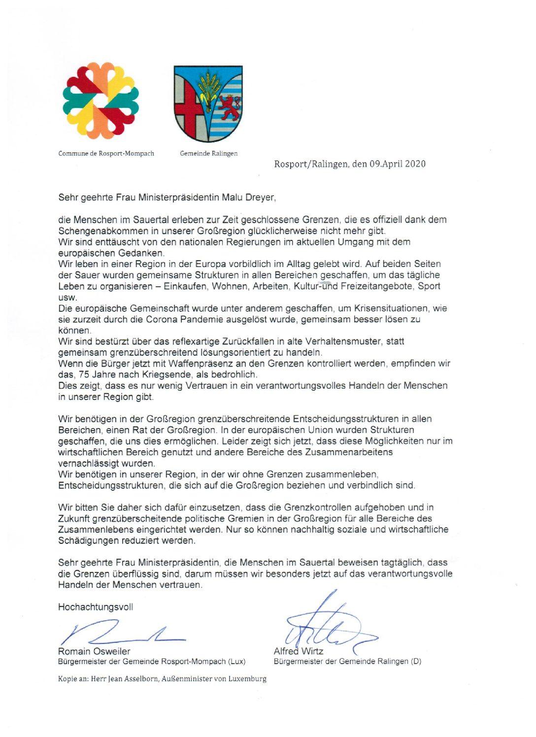CORONA-Pandemie: Grenzschließungen zu Luxemburg