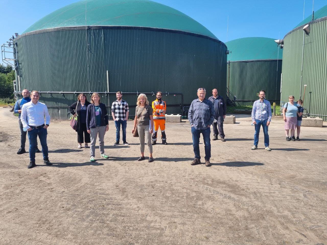 Besichtigung HP Enders Umweltservice Föhren mit Biogasanlage Reinsfeld